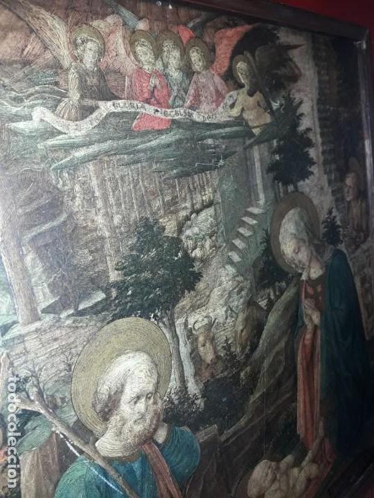 Arte: Magnifico cuadro reproducción sobre madera Adoración al Niño Jesús y Santos F. Filippo Lippi - Foto 9 - 156766746