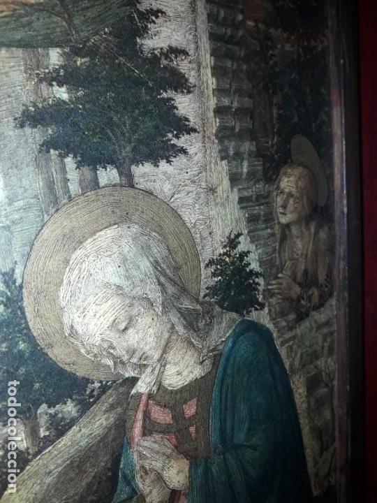 Arte: Magnifico cuadro reproducción sobre madera Adoración al Niño Jesús y Santos F. Filippo Lippi - Foto 10 - 156766746