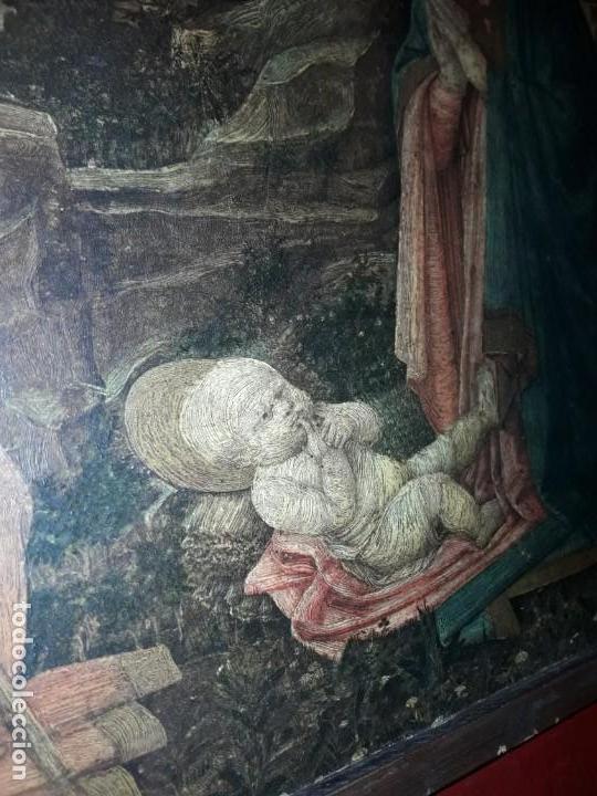 Arte: Magnifico cuadro reproducción sobre madera Adoración al Niño Jesús y Santos F. Filippo Lippi - Foto 11 - 156766746