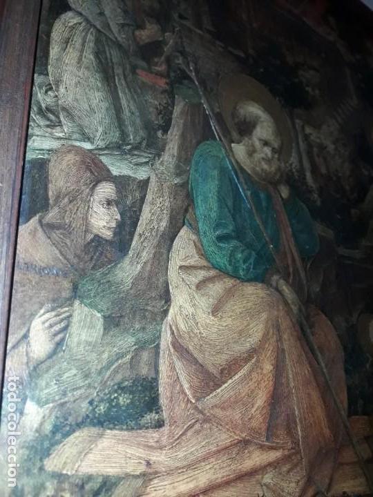 Arte: Magnifico cuadro reproducción sobre madera Adoración al Niño Jesús y Santos F. Filippo Lippi - Foto 13 - 156766746