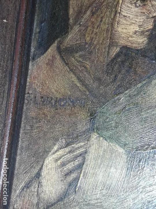 Arte: Magnifico cuadro reproducción sobre madera Adoración al Niño Jesús y Santos F. Filippo Lippi - Foto 18 - 156766746