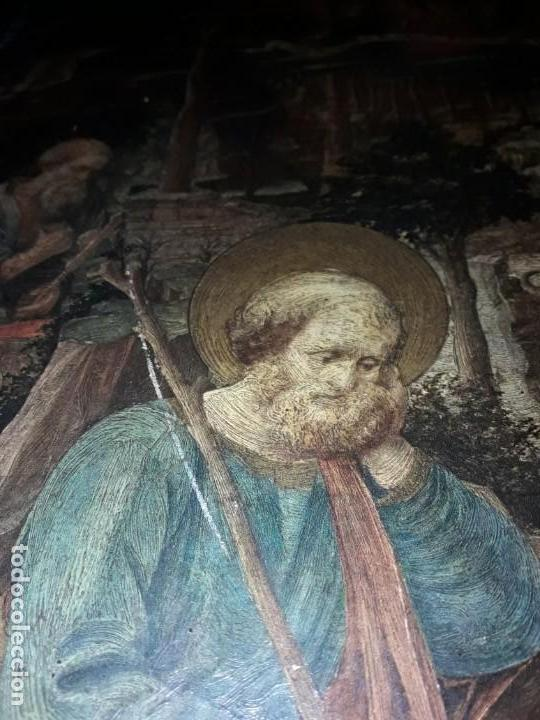 Arte: Magnifico cuadro reproducción sobre madera Adoración al Niño Jesús y Santos F. Filippo Lippi - Foto 21 - 156766746