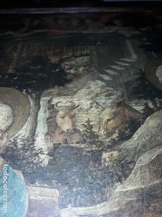 Arte: Magnifico cuadro reproducción sobre madera Adoración al Niño Jesús y Santos F. Filippo Lippi - Foto 22 - 156766746