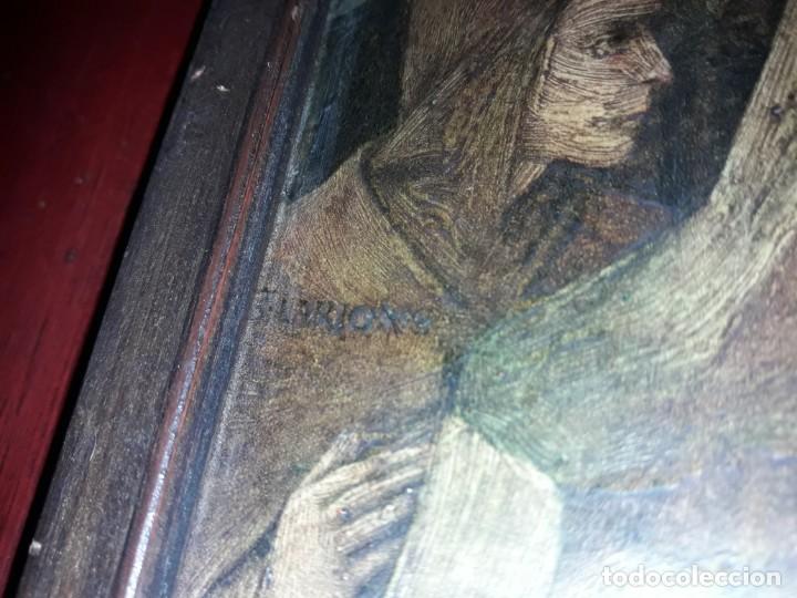 Arte: Magnifico cuadro reproducción sobre madera Adoración al Niño Jesús y Santos F. Filippo Lippi - Foto 23 - 156766746