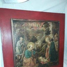 Arte: MAGNIFICO CUADRO REPRODUCCIÓN SOBRE MADERA ADORACIÓN AL NIÑO JESÚS Y SANTOS F. FILIPPO LIPPI. Lote 156766746