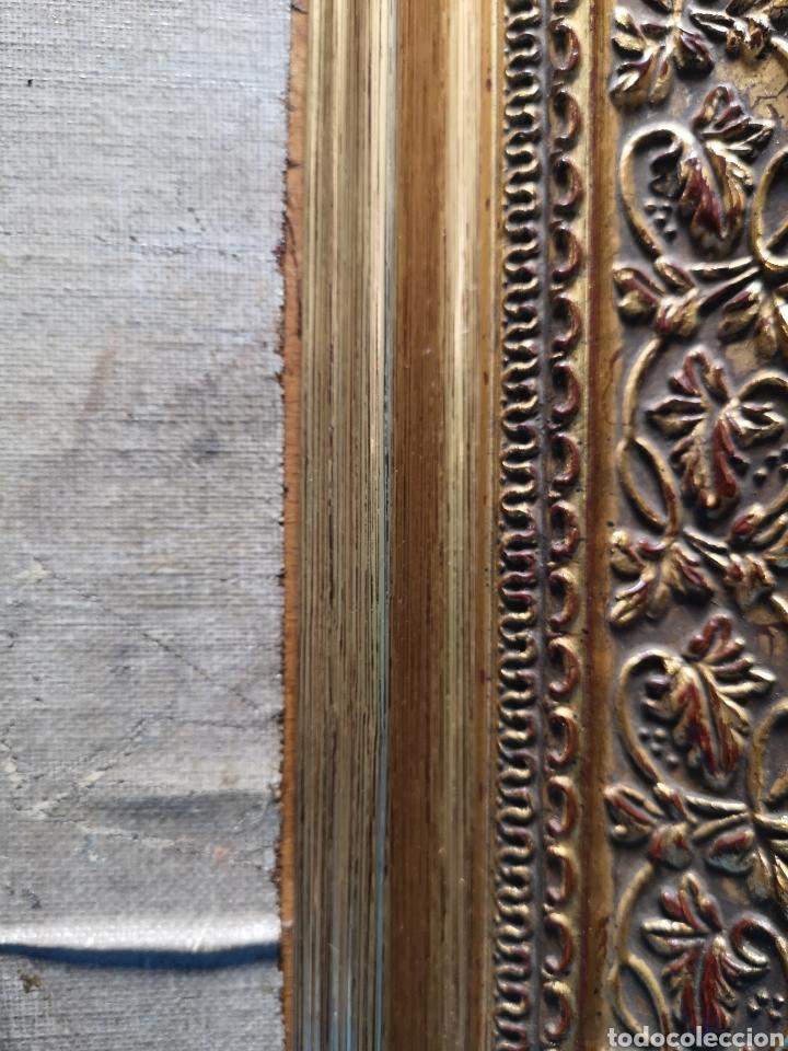 Arte: Interesante oleo sobre lienzo recortado y pegado en tablex. Firmado epla? C pla? - Foto 5 - 156920238