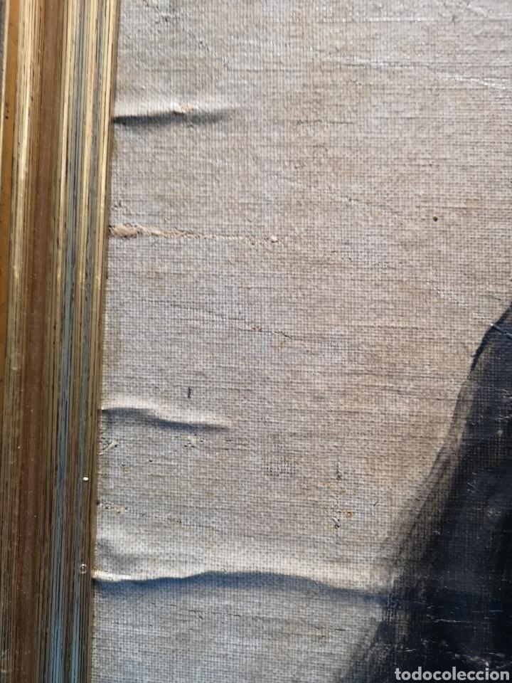 Arte: Interesante oleo sobre lienzo recortado y pegado en tablex. Firmado epla? C pla? - Foto 6 - 156920238