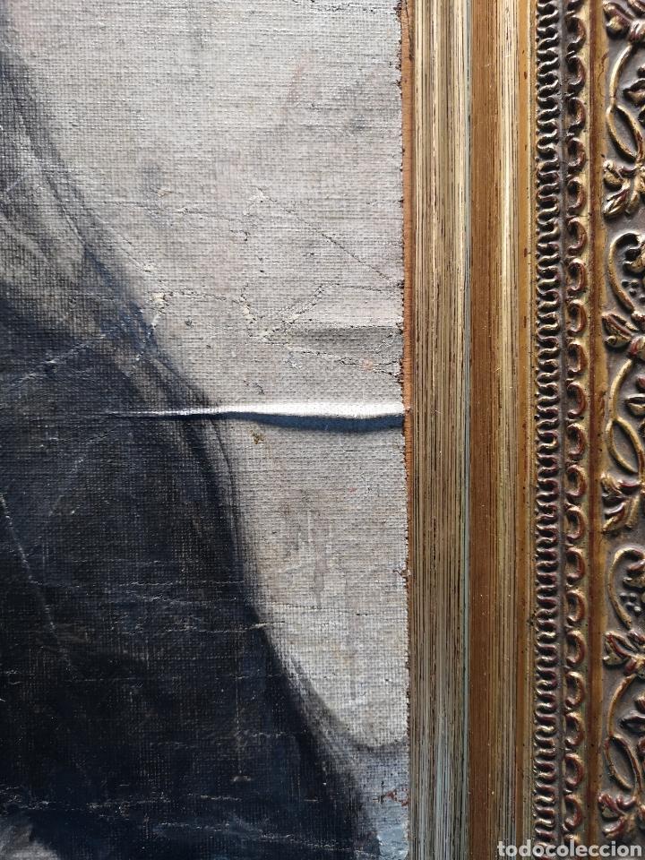 Arte: Interesante oleo sobre lienzo recortado y pegado en tablex. Firmado epla? C pla? - Foto 10 - 156920238