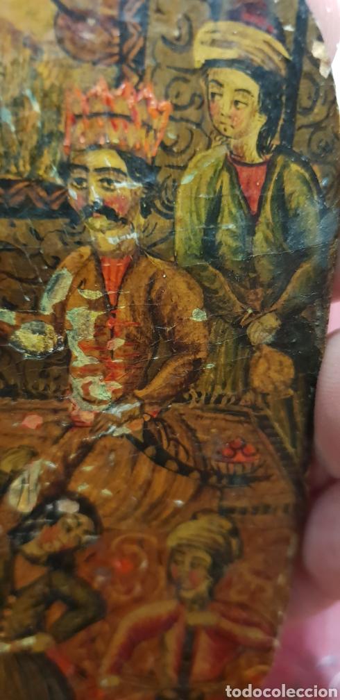 Arte: Pintura muy antigua ole sobre carton o cuero muy rara - Foto 3 - 156950642