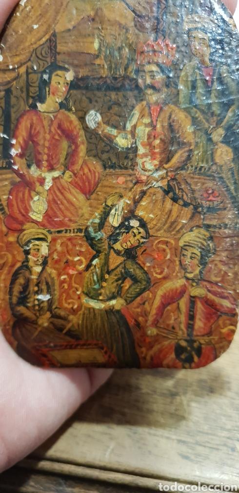 Arte: Pintura muy antigua ole sobre carton o cuero muy rara - Foto 5 - 156950642