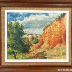 Arte: PAISAJE. ÓLEO SOBRE TABLA. FIRMA ILEGIBLE. 1951.. Lote 156966426