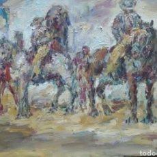 Arte: LOS JINETES GRAN OBRA ORIGINAL. Lote 156967633