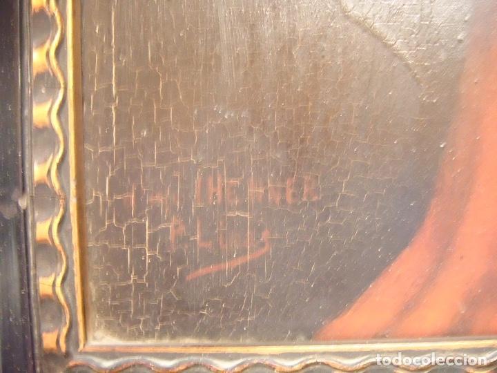 Arte: cuadro al óleo de una SEÑORA CON PAÑUELO - Foto 2 - 156980922