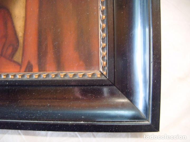 Arte: cuadro al óleo de una SEÑORA CON PAÑUELO - Foto 5 - 156980922