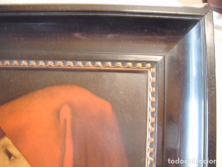 Arte: cuadro al óleo de una SEÑORA CON PAÑUELO - Foto 6 - 156980922