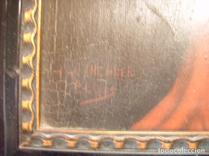 Arte: cuadro al óleo de una SEÑORA CON PAÑUELO - Foto 11 - 156980922