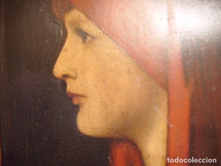 Arte: cuadro al óleo de una SEÑORA CON PAÑUELO - Foto 12 - 156980922