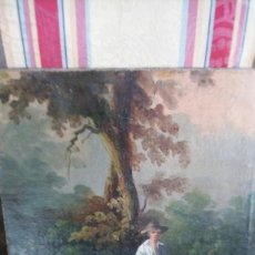 Arte: NIÑO CON BORRICO. FIRMADO. Lote 156985514