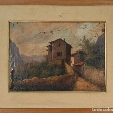 Arte: PAISAJE RURAL. ÓLEO SOBR ELIENZO. SIN FIRMAR. ESCUELA ITALIANA. SIGLO XIX.. Lote 157000606