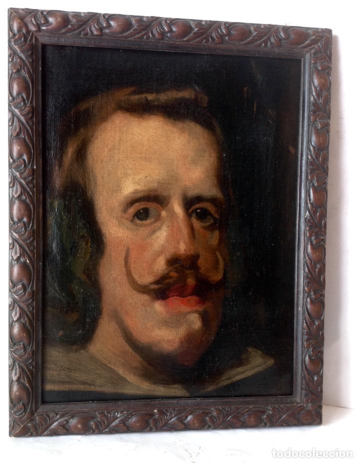MUY ANTIGUA PINTURA ALTA EPOCA -OLEO SOBRE LIENZO , REY FELIPE IV - (Kunst - Malerei - Alte Ölgemälde ohne bestimmtes Datum)