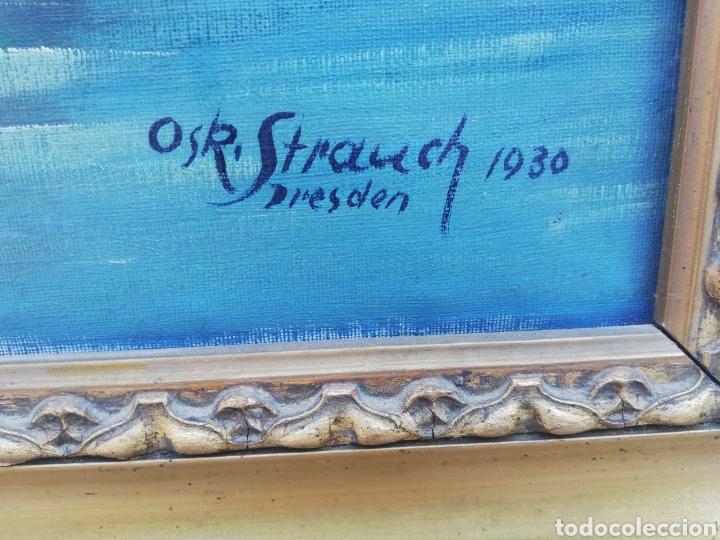Arte: Gran cuadro pintura a mano firmado de la primera mitad del siglo XX Alemania - Foto 2 - 157210049