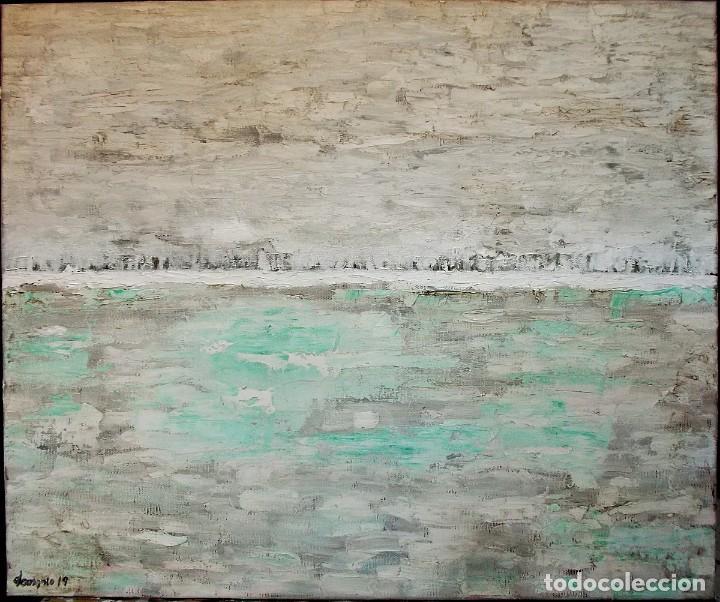 Arte: La otra orilla, óleo sobre lienzo 61 X 50. Artista. demonio - Foto 2 - 157266338