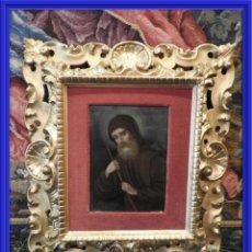 Arte: MAGNIFICO OLEO SOBRE TABLA DE SAN FRANCISCO CON CORNUCOPIA. S. XVIII. Lote 157269838