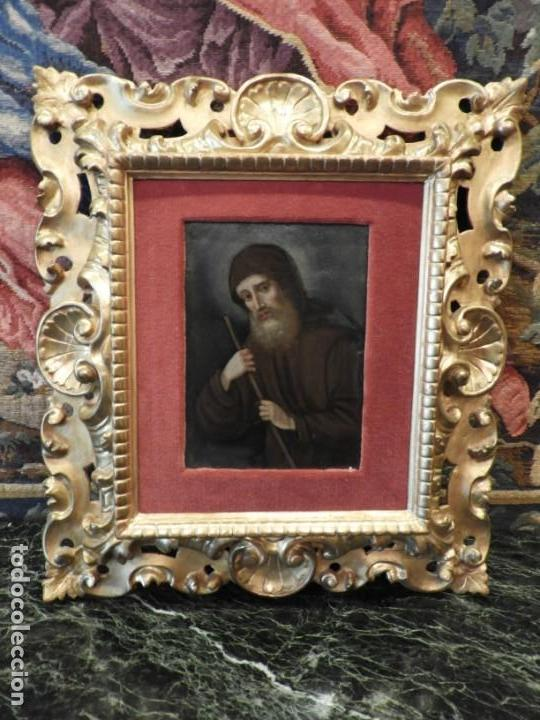 Arte: MAGNIFICO OLEO SOBRE TABLA DE SAN FRANCISCO CON CORNUCOPIA. S. XVIII - Foto 13 - 157269838