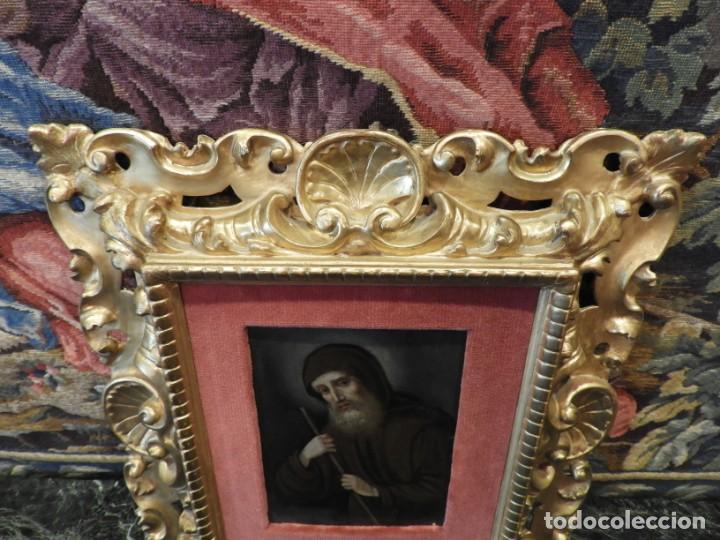 Arte: MAGNIFICO OLEO SOBRE TABLA DE SAN FRANCISCO CON CORNUCOPIA. S. XVIII - Foto 3 - 157269838