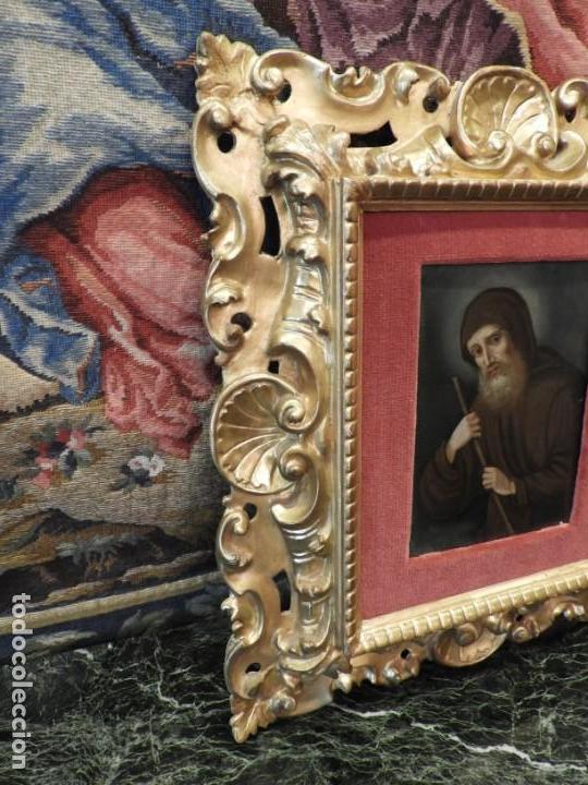 Arte: MAGNIFICO OLEO SOBRE TABLA DE SAN FRANCISCO CON CORNUCOPIA. S. XVIII - Foto 4 - 157269838