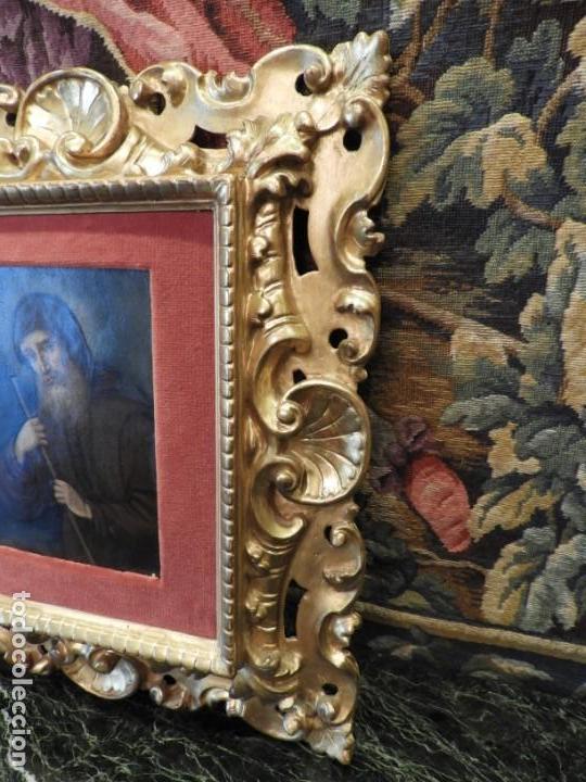 Arte: MAGNIFICO OLEO SOBRE TABLA DE SAN FRANCISCO CON CORNUCOPIA. S. XVIII - Foto 5 - 157269838