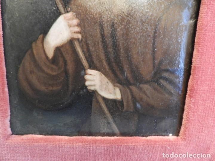 Arte: MAGNIFICO OLEO SOBRE TABLA DE SAN FRANCISCO CON CORNUCOPIA. S. XVIII - Foto 10 - 157269838