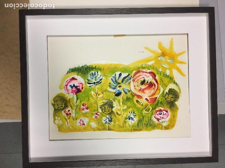 Arte: Roser Muntañola, obra original catalogada ,40x50 cms. - Foto 3 - 153502066