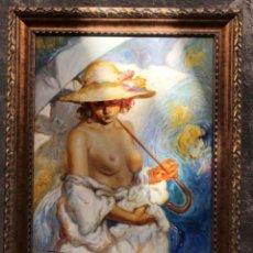 Kunst - mujer desnuda con sombrilla - 157400710