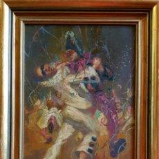 Arte: BALDOMERO RESSENDI, MAGNÍFICA Y PRECIOSA PINTURA CARNAVAL, FIRMADA.. Lote 157659092