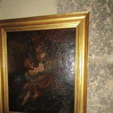 Arte - PINTURA RENACENTISTA OLEO PINTADO EN LIENZO MADONNA VIRGEN Y NIÑO JESUS S XVI - 152979478