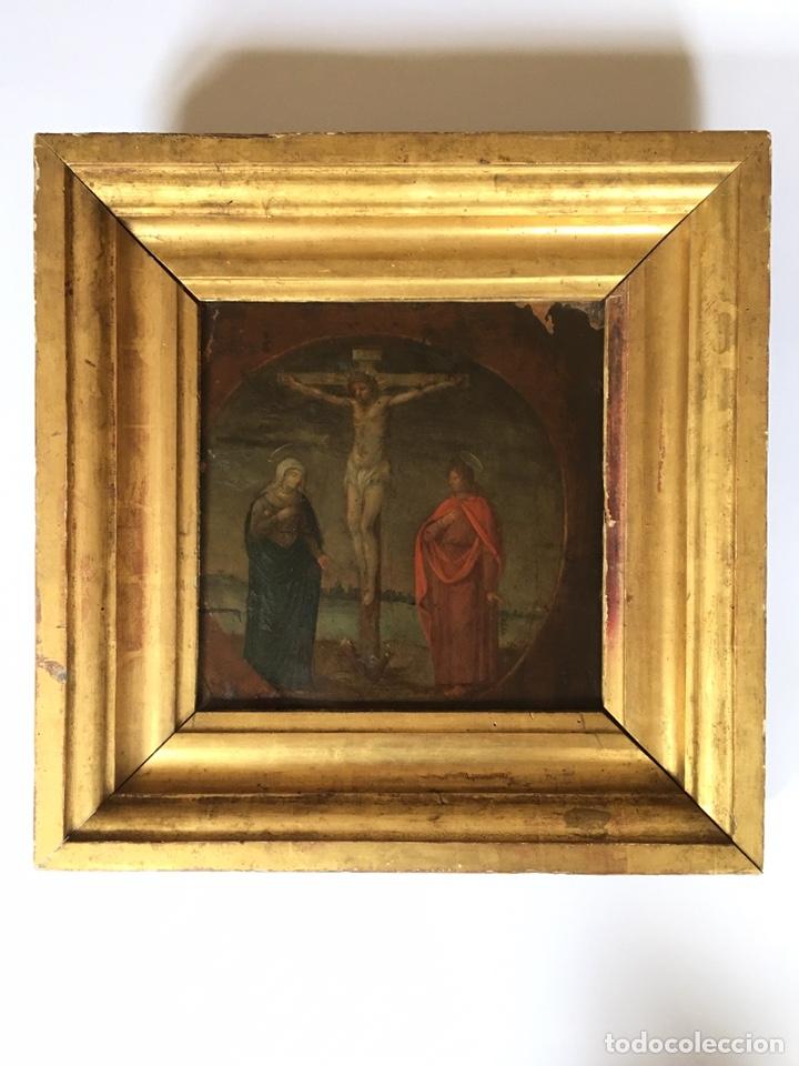 Arte: ANTIGUO OLEO SOBRE COBRE - CALVARIO - SIGLO XVI - Foto 7 - 157778768