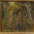 Arte: MAGNIFICO OLEO DE LA ESCUELA DE DOMENIKOS EL GRECO SIGLO XVI VIRGEN EN GRUTA CON ANGELES. Lote 157834322