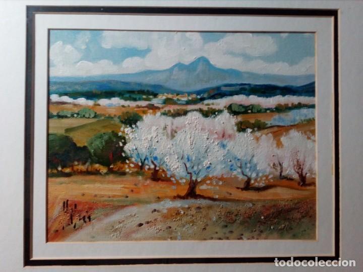 H. MARÍN - ÓLEO SOBRE LIENZO PEGADO A TABLA (PAISAJE) 53X53,5 CENTÍMETROS - FIRMADO (Arte - Pintura - Pintura al Óleo Moderna sin fecha definida)