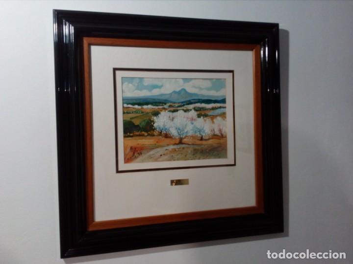 Arte: H. MARÍN - ÓLEO SOBRE LIENZO PEGADO A TABLA (PAISAJE) 53X53,5 CENTÍMETROS - FIRMADO - Foto 2 - 157860026