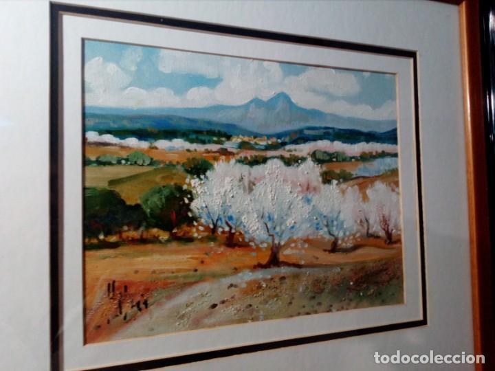 Arte: H. MARÍN - ÓLEO SOBRE LIENZO PEGADO A TABLA (PAISAJE) 53X53,5 CENTÍMETROS - FIRMADO - Foto 3 - 157860026