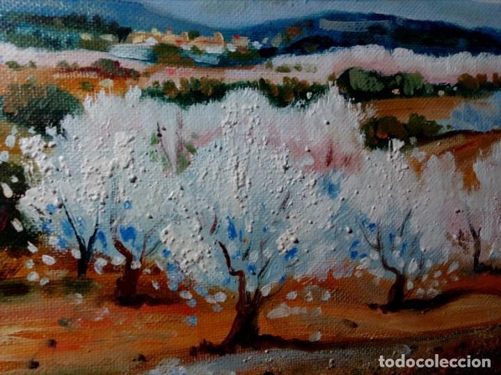 Arte: H. MARÍN - ÓLEO SOBRE LIENZO PEGADO A TABLA (PAISAJE) 53X53,5 CENTÍMETROS - FIRMADO - Foto 4 - 157860026