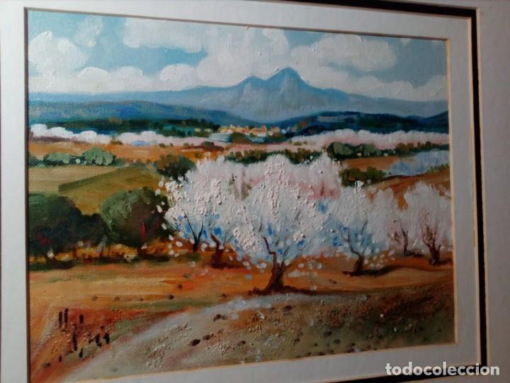 Arte: H. MARÍN - ÓLEO SOBRE LIENZO PEGADO A TABLA (PAISAJE) 53X53,5 CENTÍMETROS - FIRMADO - Foto 5 - 157860026