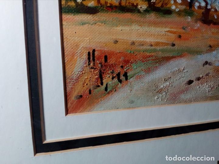 Arte: H. MARÍN - ÓLEO SOBRE LIENZO PEGADO A TABLA (PAISAJE) 53X53,5 CENTÍMETROS - FIRMADO - Foto 6 - 157860026