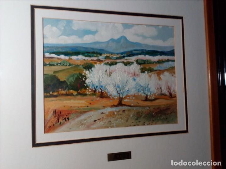 Arte: H. MARÍN - ÓLEO SOBRE LIENZO PEGADO A TABLA (PAISAJE) 53X53,5 CENTÍMETROS - FIRMADO - Foto 9 - 157860026