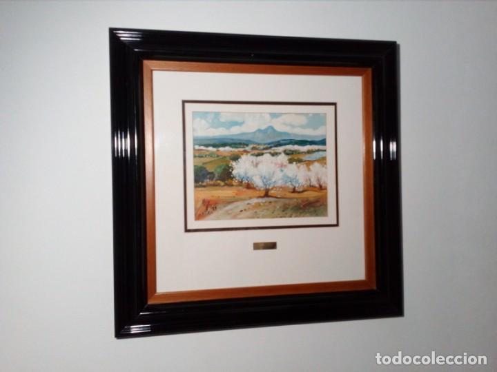 Arte: H. MARÍN - ÓLEO SOBRE LIENZO PEGADO A TABLA (PAISAJE) 53X53,5 CENTÍMETROS - FIRMADO - Foto 10 - 157860026