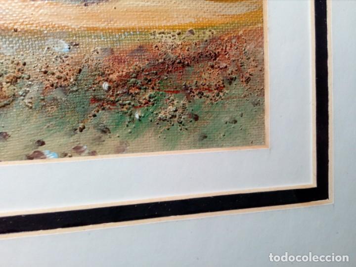 Arte: H. MARÍN - ÓLEO SOBRE LIENZO PEGADO A TABLA (PAISAJE) 53X53,5 CENTÍMETROS - FIRMADO - Foto 12 - 157860026