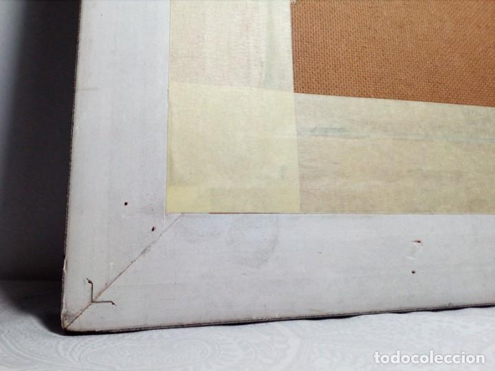 Arte: H. MARÍN - ÓLEO SOBRE LIENZO PEGADO A TABLA (PAISAJE) 53X53,5 CENTÍMETROS - FIRMADO - Foto 16 - 157860026