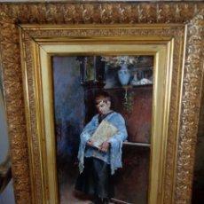 Arte: JOSE DENIS BELGRANO (MÁLAGA, 1844-1917) MONAGUILLO. Lote 157937262