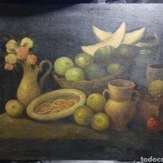 Arte: BODEGÓN SOBRE ARPILLERA DE ANONIMO. Lote 157956518